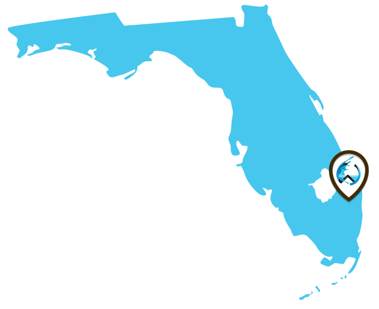 Map of Florida - Palm Beach County